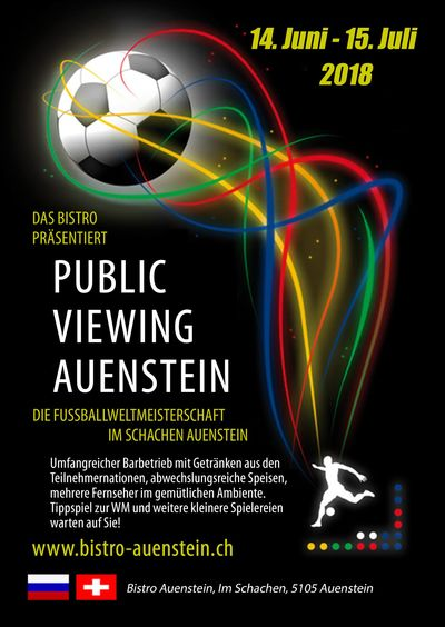 Public Viewing WM 2018 in Auenstein, Aargau