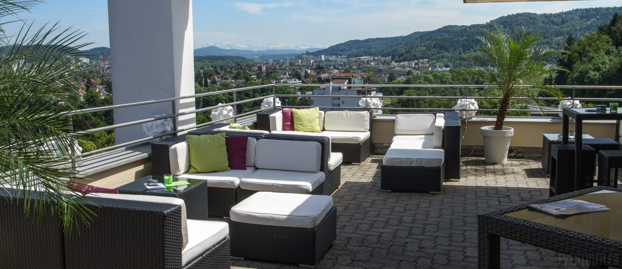 panorama lounge baden rooftop bar hochzeitslocation in. Black Bedroom Furniture Sets. Home Design Ideas