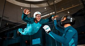 Indoor Skydiving im Windwerk